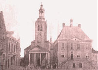 Het stadsplein in Roosendaal uiterst links